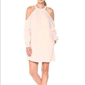BCBGMax Azria Halter Dress with Front Keyhole NAVY